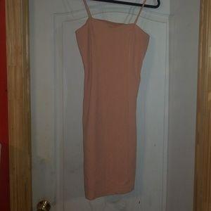 Nude midi forever 21 dress body con